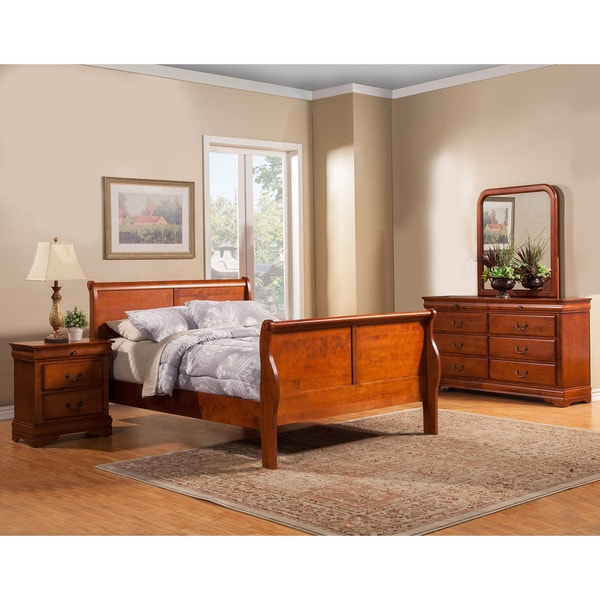 american lifestyle louis philippe ii 4 piece bedroom set