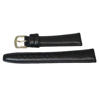 Hadley Roma Genuine Leather Watch Band with Stitch Trim