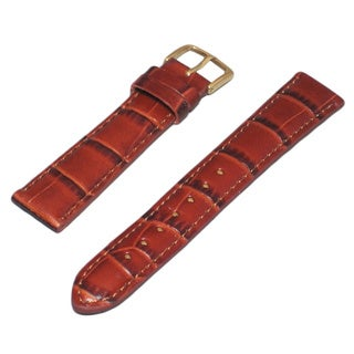 Hadley Roma Grain Genuine Italian Watch Strap with Stitch Trim