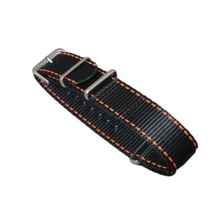 Hadley Roma One Piece Nato Watch Strap with Contrast Stitching