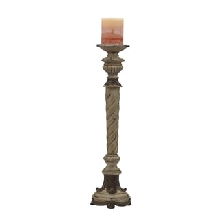 This Elements 23-inch Leaf Candle Stand