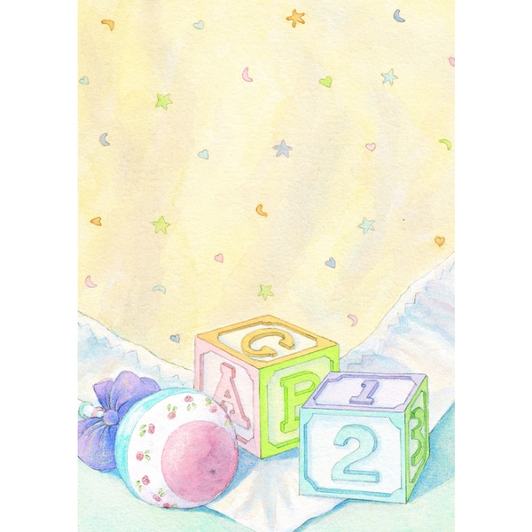 Baby Blocks Invitations (20 Count)
