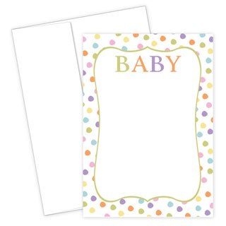 Baby Dots Invitations and Envelopes (20 Count)