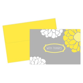 Sunny Flowers Thank You Cards (24 Count)