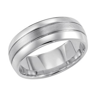 Cambridge Tungsten Carbide 3-row 8mm Comfort Fit Wedding Band