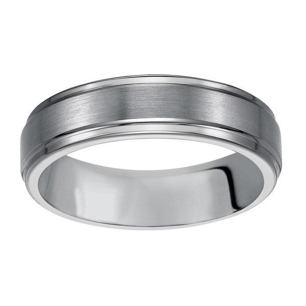 Cambridge Classic Tungsten Carbide 6mm fort fit Wedding Band Overstock S