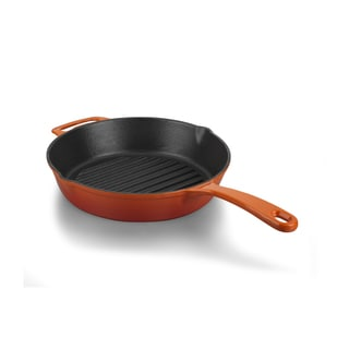 Korkmaz Casterra 11-inch Ceramic Coating Cast Iron Grill Fry Pan