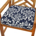 Deep Blue Damask 19-inch Indoor/ Outdoor Corded Chair Cushion