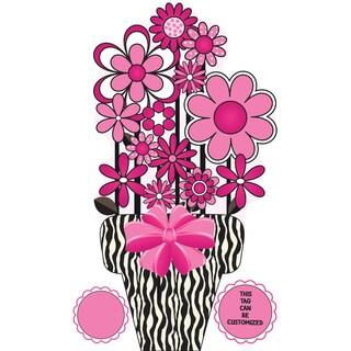 Peel & Stick Zebra Bouquet