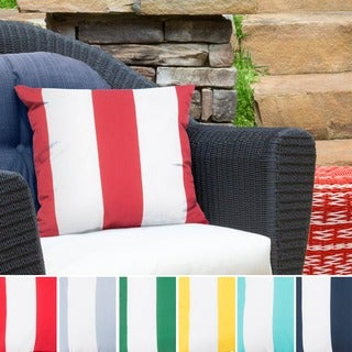 Big Sea Stripes Outdoor Safe Decorative Throw Pillow