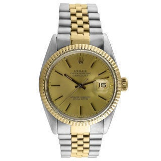 Pre-owned Rolex Men's Datejust Champagne Dial Automatic Watch