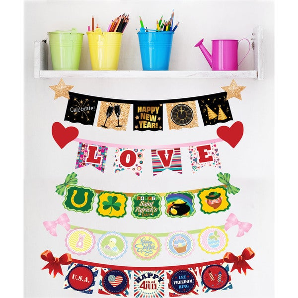 Spring Holiday Signs Interactive Wall Play Set
