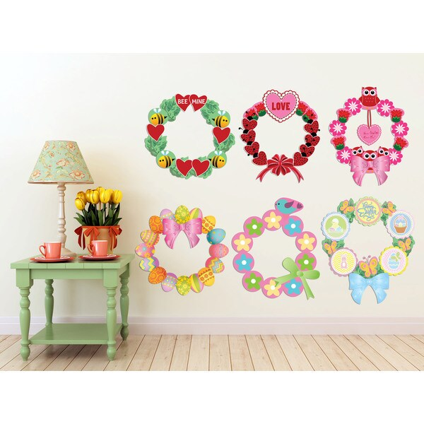 Spring Wreaths Interactive Wall Play Set