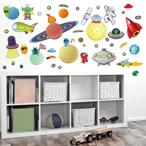 Space/ Alien Combo Interactive Wall Play Set