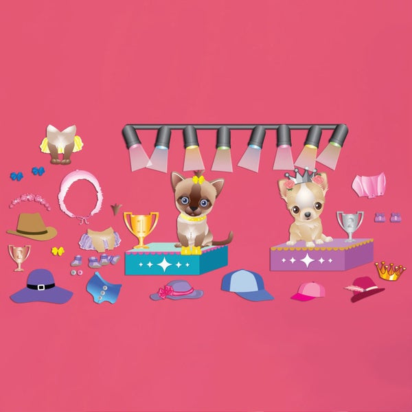 Pet Boutique Accessory Interactive Wall Play Set
