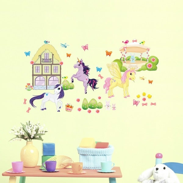 Pony Friends Unicorn Wall Play Set