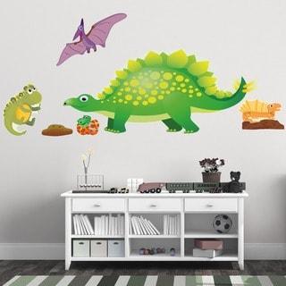 1cheap peel and stick dinosaur mural cheap nursery decor 2015. Black Bedroom Furniture Sets. Home Design Ideas