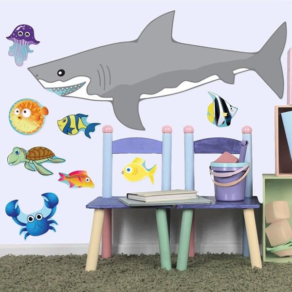 PEEL & STICK BIG Shark Decal