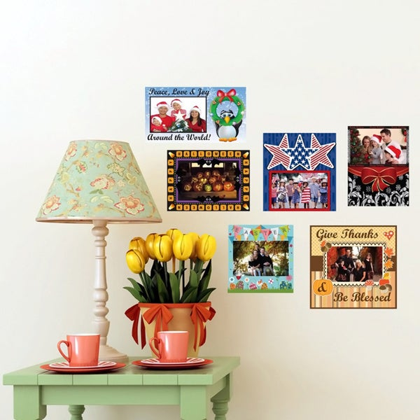 Peel & Stick Holiday Frame Decals