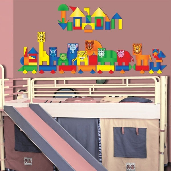 Peel, Play & Learn Animal Blocks Play Set