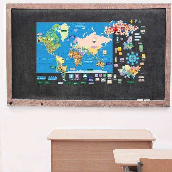 Peel, Play & Learn World Map Play Set