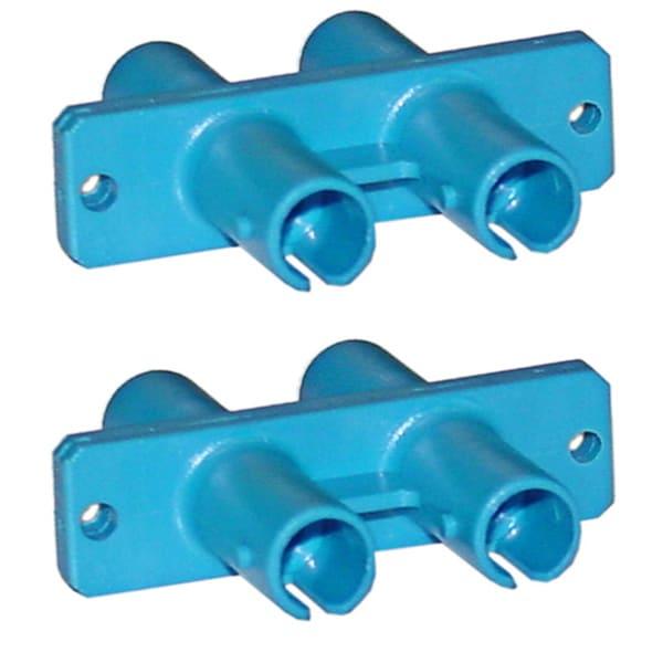 Offex ST / ST Duplex Fiber Optic Coupler Plastic Housing