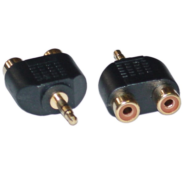 Offex RCA to Stereo adapter 2 x RCA Female / 1 x 3.5mm Stereo Male