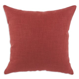 Somette Cirque Solid Lava Linen 17-inch Pieced Throw Pillow