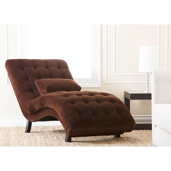 Monica pedersen claire tufted chaise by abbyson living for Abbyson living soho cream fabric chaise