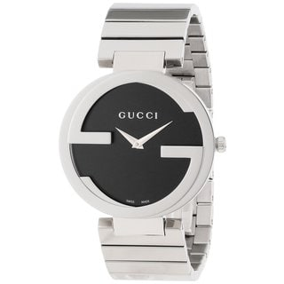 Gucci Women's Interlocking Iconic Bezel Black Dial Watch
