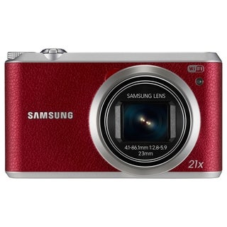 Samsung WB350F 16.3 Megapixel Compact Camera - Red