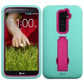 BasAcc Hot Pink/ Sky Blue Symbiosis Stand Cover Case for LG G2 D800 D801 LS980