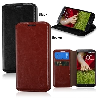 BasAcc Wallet PU Leather with Card Slot stand Case for LG G2 D800 D801 LS980