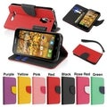 BasAcc Wallet with Card Slot Leather Stand Case for Alactel One Touch Fierce