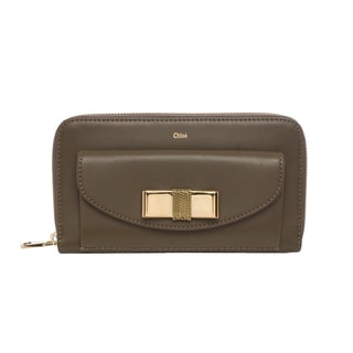 Chloe Olive Bobbie Zip Around Bow Wallet