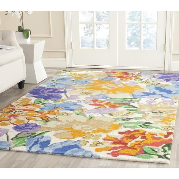 Isaac Mizrahi by Safavieh Painterly Floral Multi Wool Rug (8' x 10')