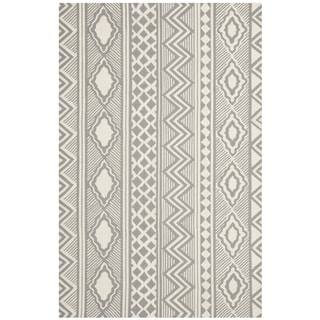 Isaac Mizrahi by Safavieh Santa Fe Trails Grey/ Ivory Wool Rug (8' x 10')
