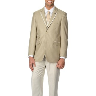 Stacy Adams Men's Tan Plaid 4-piece Vested Suit
