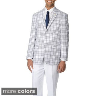 Falcone Men's Plaid 3-piece Vested Suit