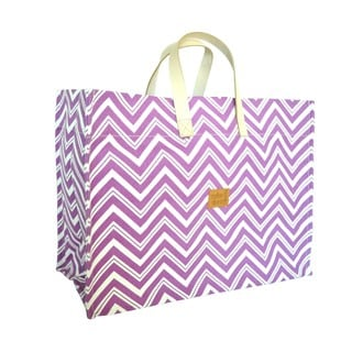 Color Dunes Zig-Zag Orchid Super Tote Bag