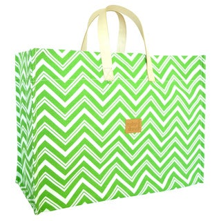 Color Dunes Zig-Zag Lime Green Super Tote Bag