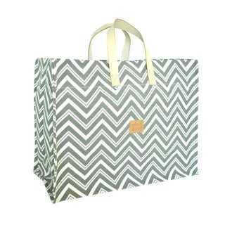 Color Dunes Zig-Zag Ash Grey Super Tote Bag