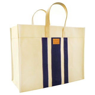Color Dunes Classic Navy Stripe Tote Bag