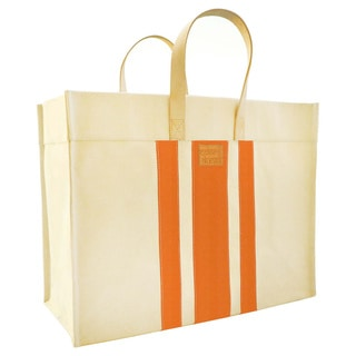 Color Dunes Classic Tangerine Orange Stripe Tote Bag