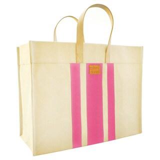 Color Dunes Classic Pink Stripe Tote Bag