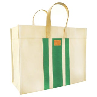 Color Dunes Classic Emerald Stripe Tote Bag