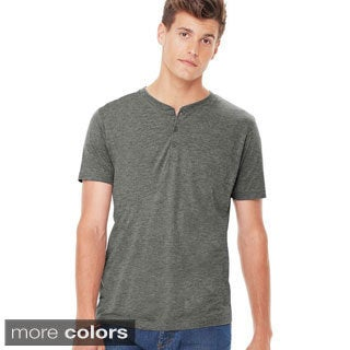 Canvas Men's Short Sleeve Henley Shirt