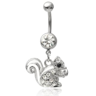 Mishbehave Stainless Steel Cubic Zirconia Belly Ring