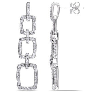 Miadora Signature Collection 14k White Gold 7/8ct TDW Diamond Chandelier Earrings (G-H, SI1-SI2)