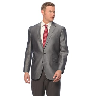 Kenneth Cole Reaction Men's Slim Fit Black/Grey Cotton Sport Coat